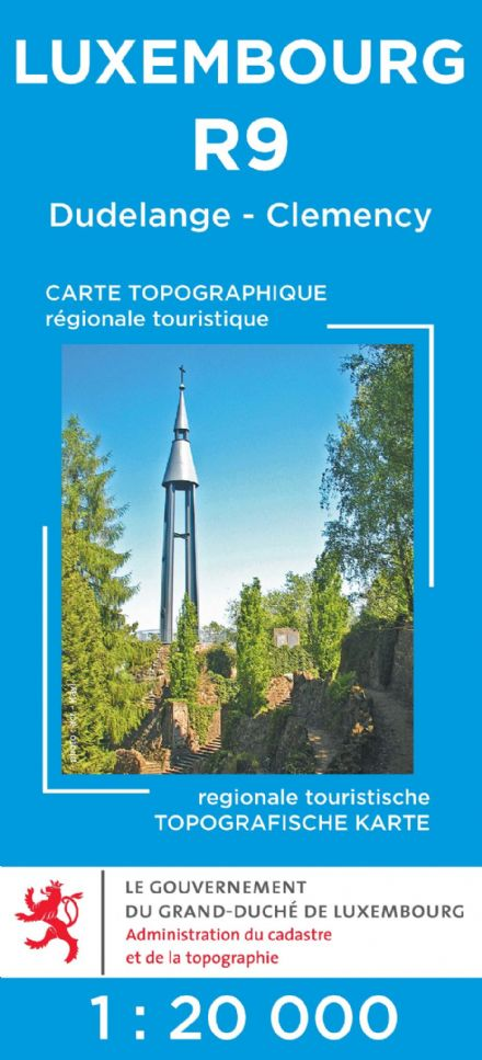 Luxembourg R9 - Dudelange - Clemency Tourist Map